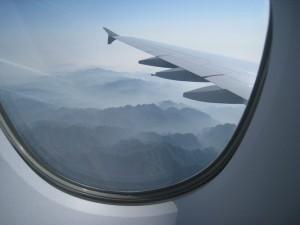 A380 Blick aus dem Fenster