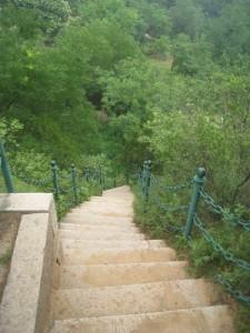 Die letzten Stufen nach unten
