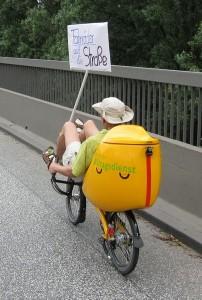 Fahrräder gehören auf die Strasse