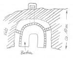 So sind die Räume in den Fels gebaut