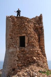 Das bin ich auf dem alten Wachturm