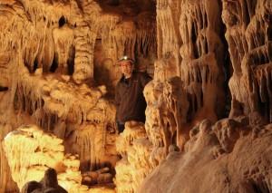 Ich in der Tropfsteinhöhle