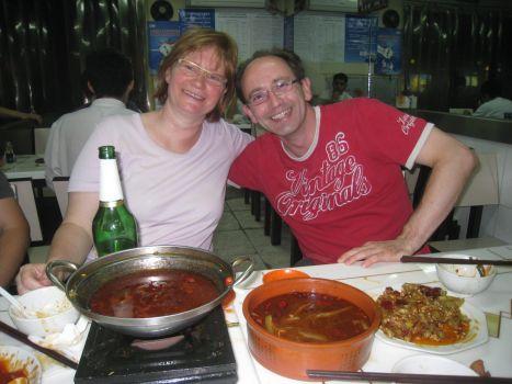 Iris und Ich beim Essen