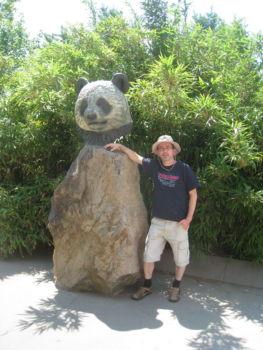 Ich bei den Pandas im Zoo
