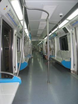 Eine leere U-Bahn!
