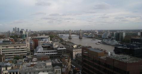 London Skyline vom Monument
