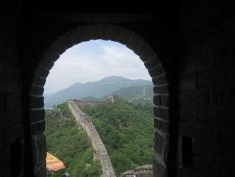 Blick aus einem Wachturm