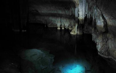 Expedition zur Cova des Coloms - Im Inneren