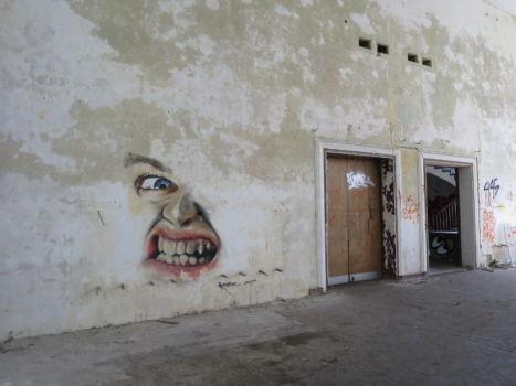 cooles Grafitti im Theater