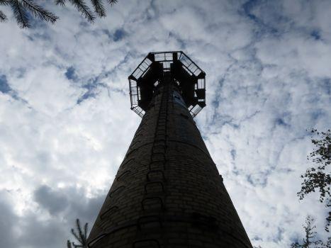 Schornstein: von oben hat man eine tolle Aussicht!